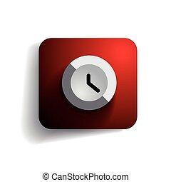 Clock icon button