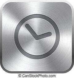 Clock icon button Vector illustration