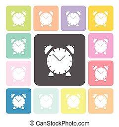 Clock Icon color set vector illustration.