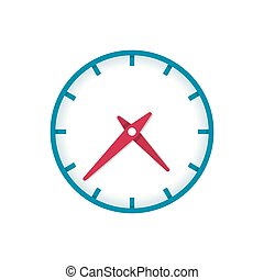 Clock icon - Colorful vector clock icon isolated on white ...