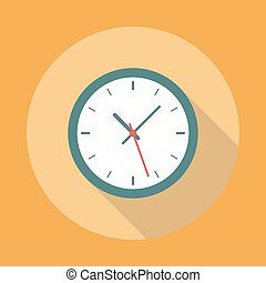 Clock Icon Flat