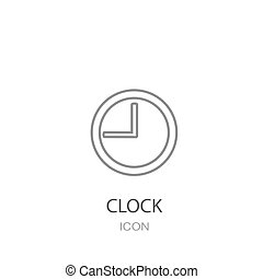 Clock Icon. Flat style object.