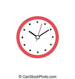 clock icon flat style