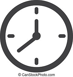 Clock icon in black on a white background.