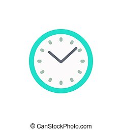 Clock icon in flat style vector illustration