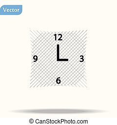 Clock Icon in trendy flat style isolated on white background. Time symbol for your web site design, logo, app, UI. Vector illustration, EPS10.