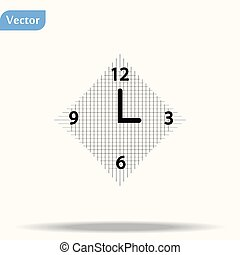 Clock Icon in trendy flat style isolated on white background. Time symbol for your web site design, logo, app, UI. Vector illustration, EPS 10.
