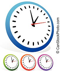 Clock Icon in Various Colors