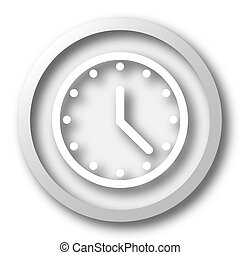 Clock icon. Internet button on white background.
