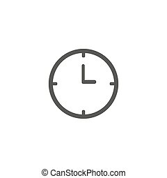 Clock icon isolated. Flat design. Vector Illustration eps 10