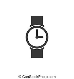 Clock icon isolated on white background. Vector