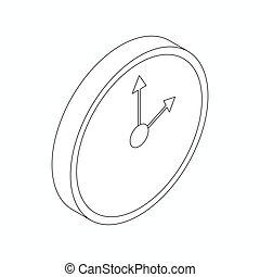 Clock icon, isometric 3d style