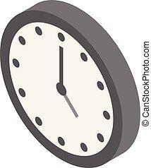 Clock icon, isometric style