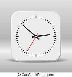 Clock icon on a white background. Vector