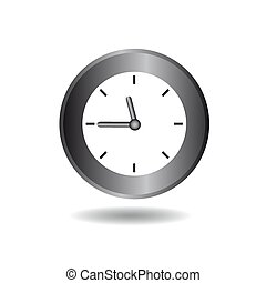 Clock icon on a white background. Vector image for your design.