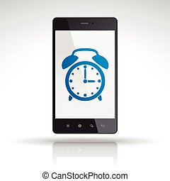 clock icon on mobile phone