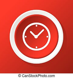 Clock icon on red