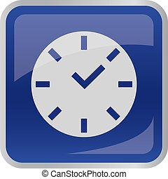 Clock icon on square button