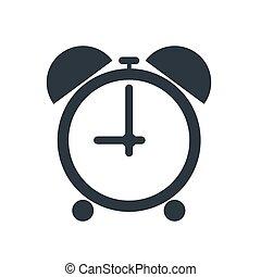 clock icon on white background