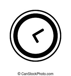 Clock Icon on White Background