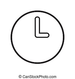 clock icon on white background Vector.