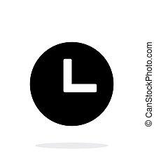 Clock icon on white background.
