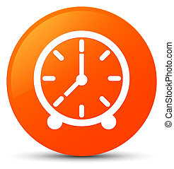 Clock icon orange round button