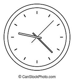 Clock icon, outline style