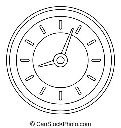 Clock icon, outline style.
