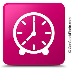 Clock icon pink square button