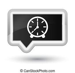 Clock icon prime black banner button