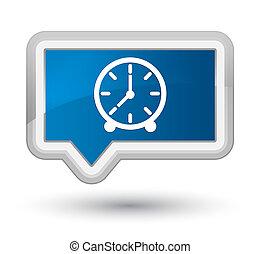 Clock icon prime blue banner button