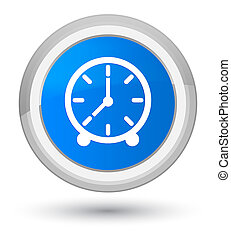 Clock icon prime cyan blue round button