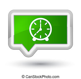 Clock icon prime green banner button