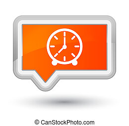 Clock icon prime orange banner button