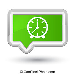 Clock icon prime soft green banner button