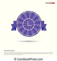 Clock Icon - Purple Ribbon banner