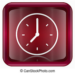 Clock icon red