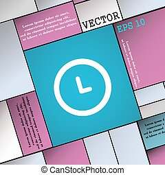 clock icon sign. Modern flat style for your design. Vector