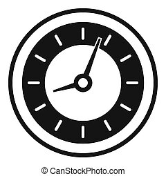 Clock icon, simple black style