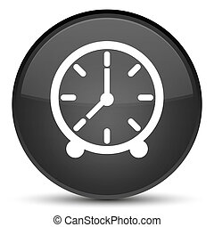 Clock icon special black round button