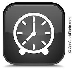 Clock icon special black square button