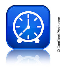 Clock icon special blue square button