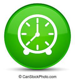 Clock icon special green round button