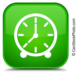 Clock icon special green square button