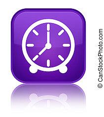 Clock icon special purple square button