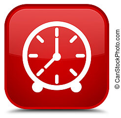 Clock icon special red square button