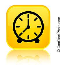 Clock icon special yellow square button