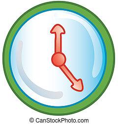 Clock icon - Stylized clock icon or symbol.