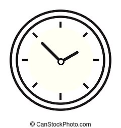 Clock icon time line vector isolated on white